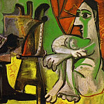 Pablo Picasso (1881-1973) Period of creation: 1962-1973 - 1963 Le peintre et son modКle 4