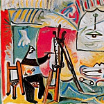 Pablo Picasso (1881-1973) Period of creation: 1962-1973 - 1963 Le peintre et son modКle V