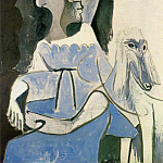 1962 Jacqueline au chien , Pablo Picasso (1881-1973) Period of creation: 1962-1973