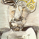 1972 Buste dhomme au chapeau, Pablo Picasso (1881-1973) Period of creation: 1962-1973