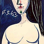 1963 Buste de femme nue, Pablo Picasso (1881-1973) Period of creation: 1962-1973