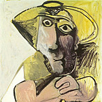 Pablo Picasso (1881-1973) Period of creation: 1962-1973 - 1971 Homme assis Е la canne