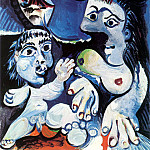 1970 Homme, femme et enfant, Pablo Picasso (1881-1973) Period of creation: 1962-1973