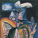 Pablo Picasso (1881-1973) Period of creation: 1962-1973 - 1971 Homme Е la pipe