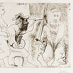 Pablo Picasso (1881-1973) Period of creation: 1962-1973 - 1963 Peintre au travail