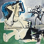 1967 Nu assis et joueur de flЦte, Pablo Picasso (1881-1973) Period of creation: 1962-1973