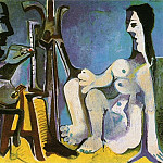 Pablo Picasso (1881-1973) Period of creation: 1962-1973 - 1963 Le peintre et son modКle