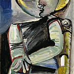 Pablo Picasso (1881-1973) Period of creation: 1962-1973 - 1971 Personnage [Femme assise]