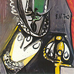 1970 Buste dhomme, Pablo Picasso (1881-1973) Period of creation: 1962-1973