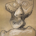 1972 TИte [Autoportrait], Pablo Picasso (1881-1973) Period of creation: 1962-1973