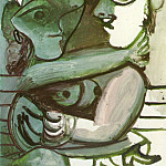 Pablo Picasso (1881-1973) Period of creation: 1962-1973 - 1971 Couple assis