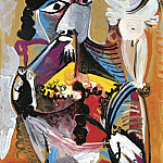 1969 Homme Е la pipe assis et amour 1, Pablo Picasso (1881-1973) Period of creation: 1962-1973