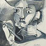 1965 Le peintre au chapeau, Pablo Picasso (1881-1973) Period of creation: 1962-1973