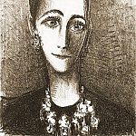 Pablo Picasso (1881-1973) Period of creation: 1962-1973 - 1964 Portrait de Mademoiselle Rosengart