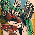 1969 Homme et femme nus, Pablo Picasso (1881-1973) Period of creation: 1962-1973