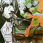 Pablo Picasso (1881-1973) Period of creation: 1962-1973 - 1964 Le peintre et som modКle 3