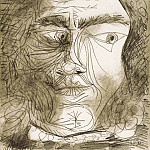 1971 TИte dhomme 92, Pablo Picasso (1881-1973) Period of creation: 1962-1973