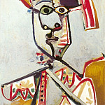 Pablo Picasso (1881-1973) Period of creation: 1962-1973 - 1971 Buste dhomme Е la flute