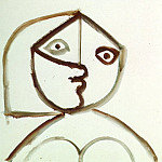Pablo Picasso (1881-1973) Period of creation: 1962-1973 - 1971 Buste de femme 7