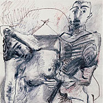 Pablo Picasso (1881-1973) Period of creation: 1962-1973 - 1973 Couple