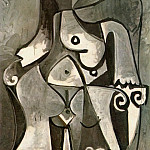 1962 Nu assis dans un fauteuil, Pablo Picasso (1881-1973) Period of creation: 1962-1973