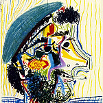 Pablo Picasso (1881-1973) Period of creation: 1962-1973 - 1964 TИte dhomme barbu Е la cigarette 1