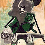 Pablo Picasso (1881-1973) Period of creation: 1962-1973 - 1970 Portrait dhomme au chapeau gris