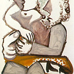 Pablo Picasso (1881-1973) Period of creation: 1962-1973 - 1971 Couple assis 1