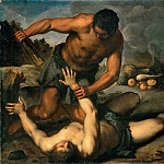 Jacopo Palma, il giovane -- Cain kills his brother, Kunsthistorisches Museum