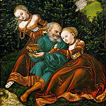 Lucas Cranach the elder -- Lot and his Daughters, Kunsthistorisches Museum