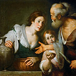 Kunsthistorisches Museum - Bernardo Strozzi -- The Prophet Elias and the widow of Sarepta