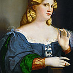 Jacopo Palma, il vecchio -- Portrait of a young woman in profile, Kunsthistorisches Museum