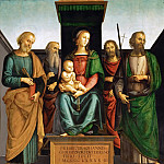 Kunsthistorisches Museum - Perugino (c. 1450-1523) -- Madonna and Child with Saints Peter and Paul