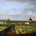 Kunsthistorisches Museum - Bernardo Bellotto (1721-1780) -- Vienna Seen from the Belvedere