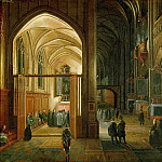Hendrick van Steenwijck the younger -- Evening Mass in a Gothic Church, Kunsthistorisches Museum