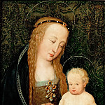 Hans Holbein the Elder -- Virgin and Child with a Pomegranate, Kunsthistorisches Museum