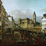 Kunsthistorisches Museum - Bernardo Bellotto (1721-1780) -- The Freyung in Vienna, as Seen from the Southeast