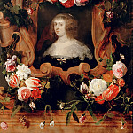 Daniel Seghers -- Portrait of a Woman Surrounded by Flowers, Kunsthistorisches Museum