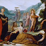 Bartholomaeus Spranger -- Apollo and the Muses, Kunsthistorisches Museum