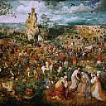 Brueghel, Pieter The Elder -- Несение креста [The Procession to Calvary] 1564, 124х170,, Kunsthistorisches Museum
