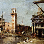 Francesco Guardi -- The Entrance to the Arsenal in Venice, Kunsthistorisches Museum