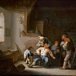 Kunsthistorisches Museum - Adriaen van Ostade -- The Village Barber (Dentist Extracts a Tooth)
