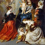 Theodor van Thulden -- The provinces of Brabant, Hennegau and Flanders pay homage to the Virgin., Kunsthistorisches Museum
