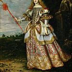 Margarita Teresa in a theatrical costume, Jan Baptist Lodewyck Maes