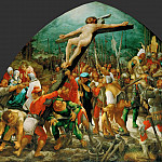 Kunsthistorisches Museum - Wolfgang Huber (c. 1485-1553) -- Raising of the Cross