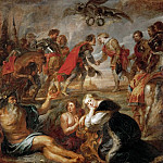 Peter Paul Rubens -- Emperor Ferdinand III Meets Cardinal Infant Ferdinand Before the Battle of Noerdlingen, Kunsthistorisches Museum