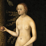Lucas Cranach the elder -- Eve, Kunsthistorisches Museum