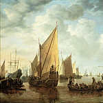 Kunsthistorisches Museum - Simon de Vlieger -- Visit to the Fleet