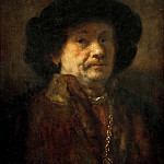 Kunsthistorisches Museum - Rembrandt van Rijn -- Self Portrait in Fur Coat, with Gold Chain and Earring (attr)