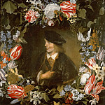 Jan Lievensz. -- Portrait of a Young Man surrounded by Flowers, Kunsthistorisches Museum